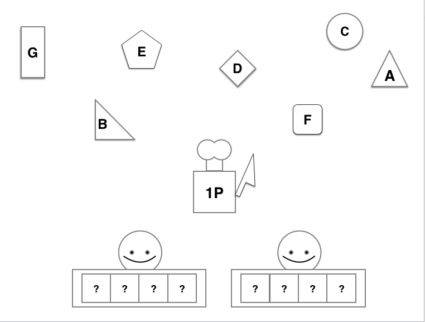 rough diagram of the game board